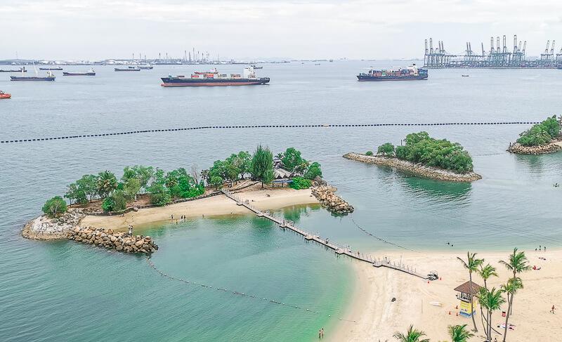 AJ Hackett Skybridge Sentosa Singapore - Siloso Beach
