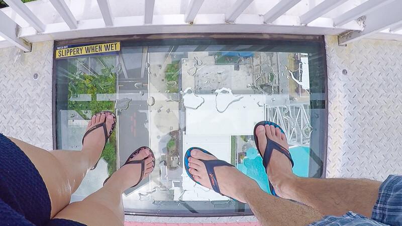 AJ Hackett Skybridge Sentosa Singapore - see through glass panel