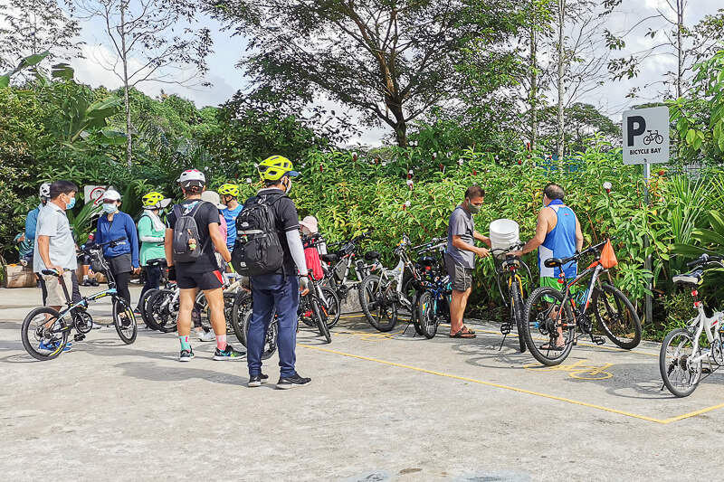 Sembawang Hot Sping Park - Bicycle Parking