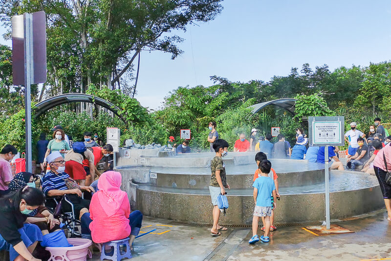 Sembawang Hot Sping Park - Cascading Pool