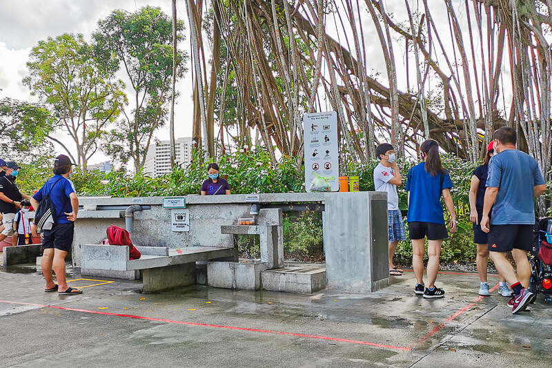 Sembawang Hot Sping Park - Egg Cooking station