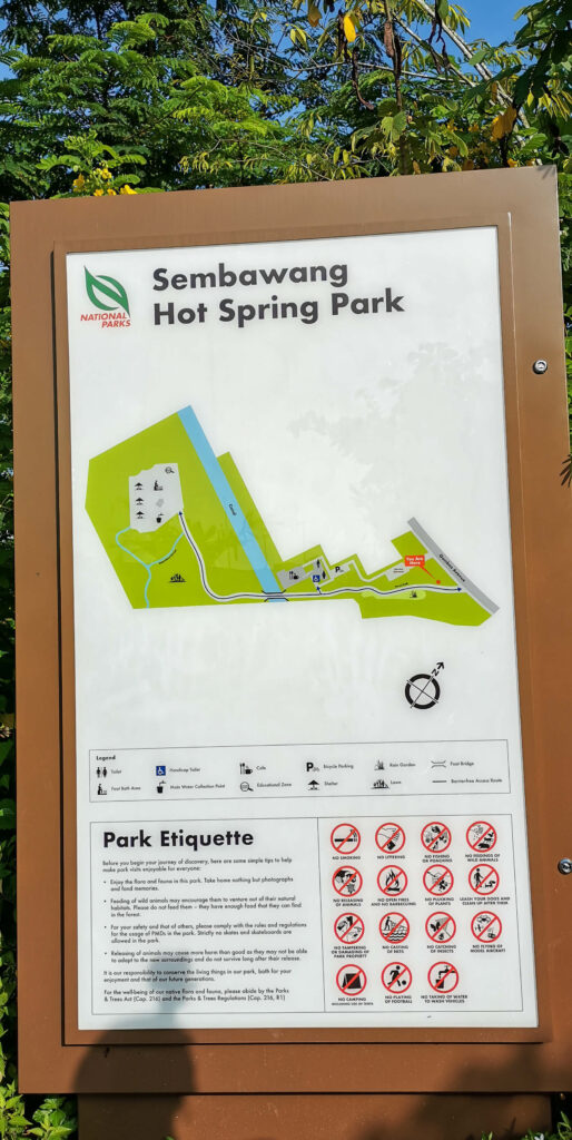 Sembawang Hot Sping Park Map