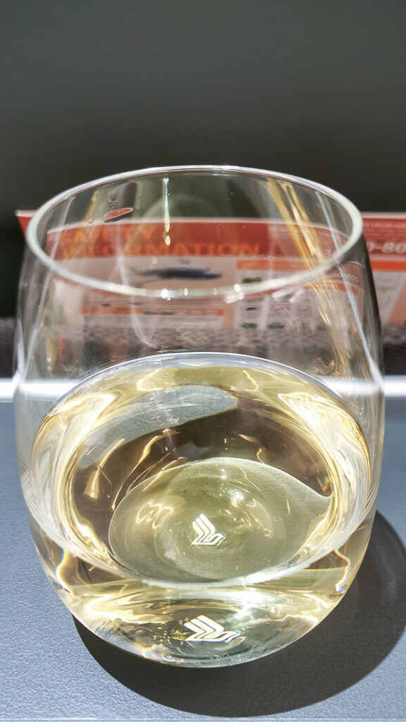 Champagne at Singapore Airline Restaurant A380 Changi