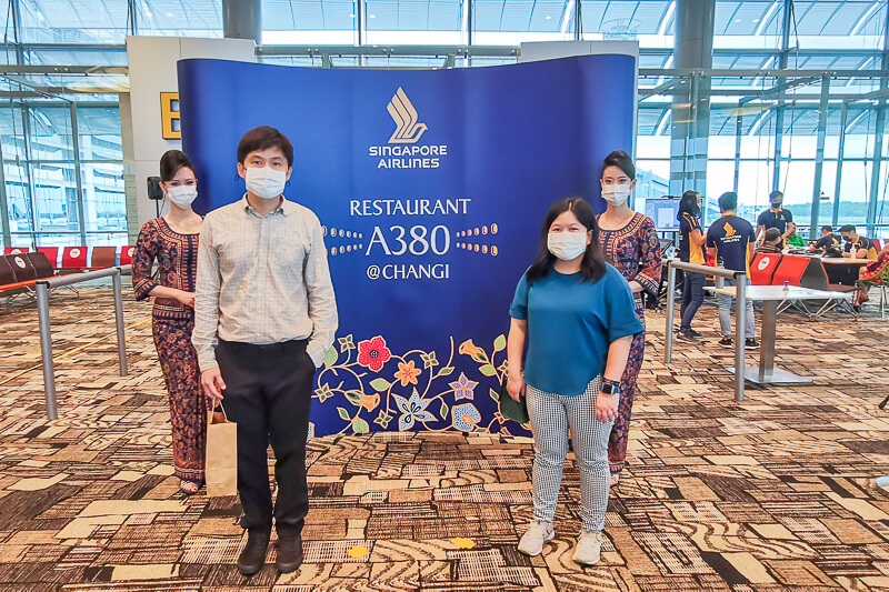 Photobooth at Singapore Airline Restaurant A380 Changi - Economy Clas