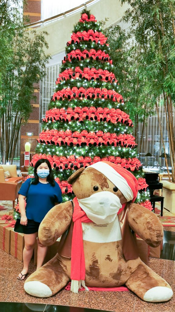 Conrad Centennial Singapore - Christmas Tree and Conrad Bear