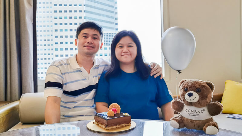 Conrad Centennial Singapore Review - Birthday Cake