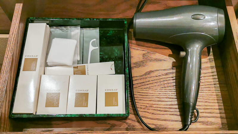 Conrad Centennial Singapore Review - Room Bathroom Amenities