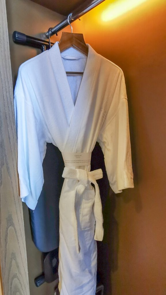 Conrad Centennial Singapore Review - Room (18) Bath robe