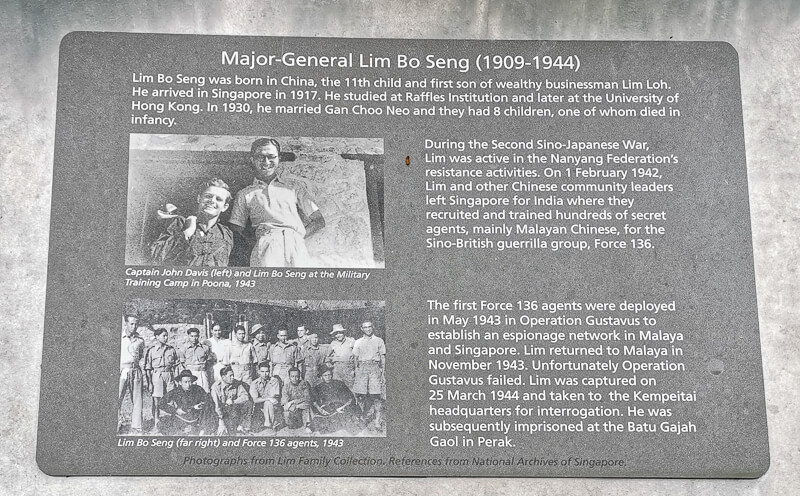 Things to do in MacRitchie Reservoir - Lim Bo Seng History