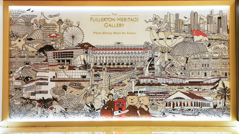 Fullerton Hotel Singapore Staycation Review - Exploring Fullerton Heritage Gallery