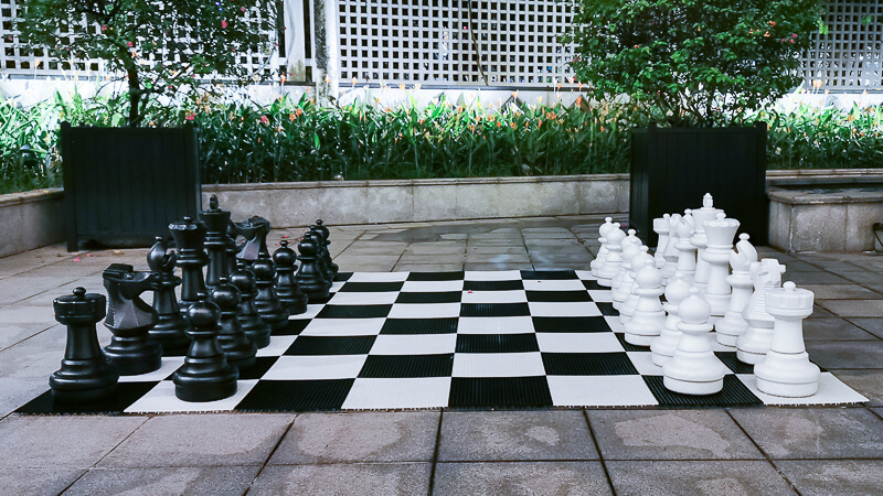 Fullerton Hotel Singapore Staycation Review - Exploring Giant Chess