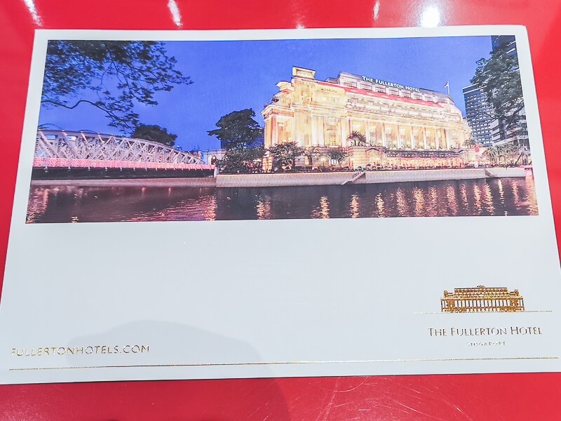 Fullerton Hotel Singapore Staycation Review - Fullerton Postcard