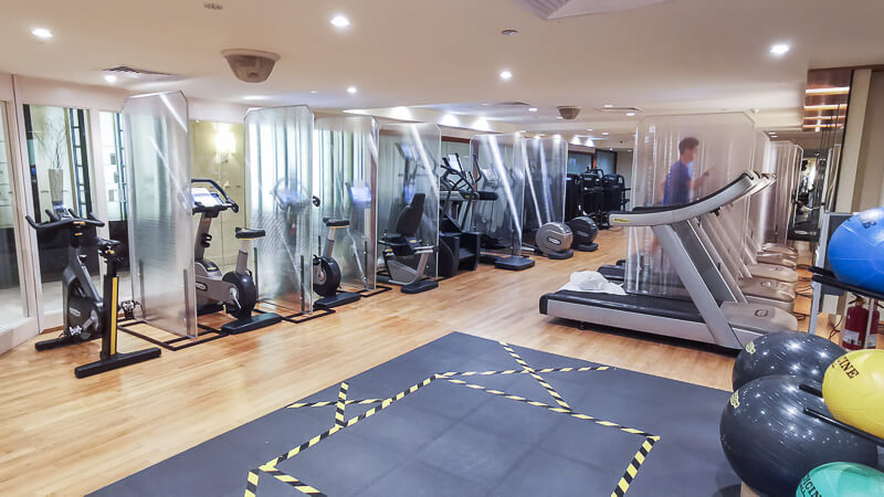 Fullerton Hotel Singapore Staycation Review - Gym