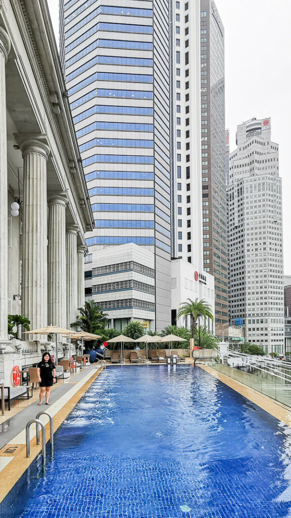 Fullerton Hotel Singapore Staycation Review - Infinity Pool