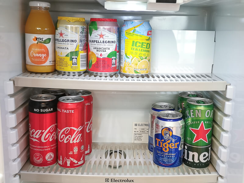 Fullerton Hotel Singapore Staycation Review - Minibar