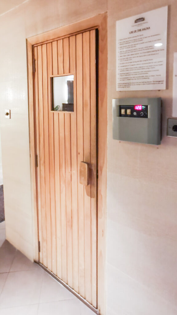 Fullerton Hotel Singapore Staycation Review - Sauna