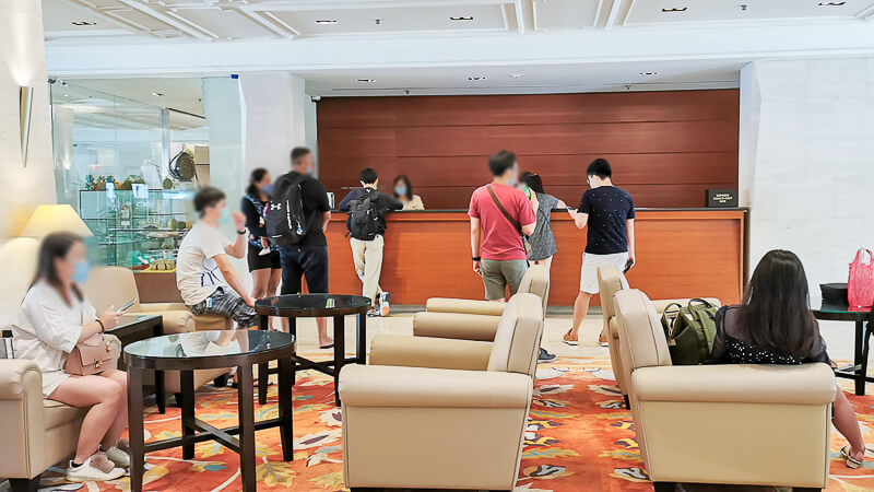 Goodwood Park Hotel Singapore Staycation Review - Lobby check-in