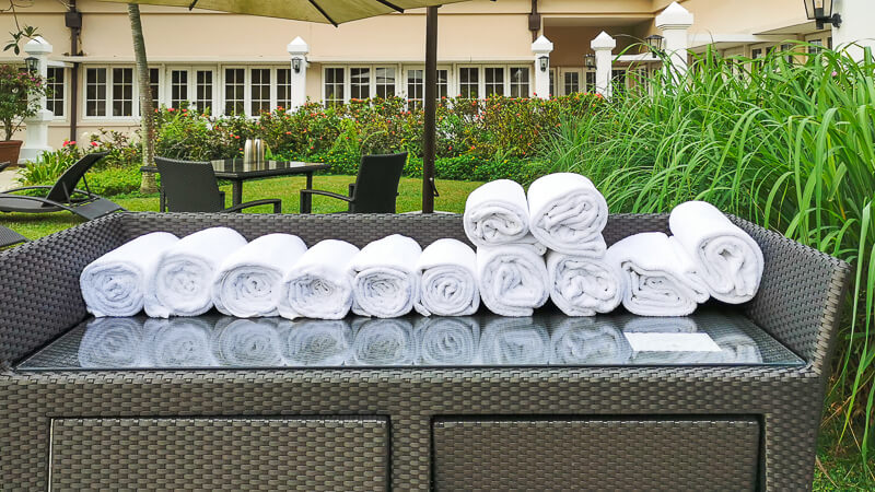 Goodwood Park Hotel Singapore Staycation Review - Main Swimming Pool Towels