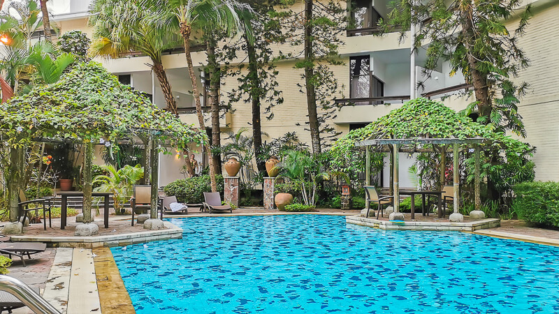 Goodwood Park Hotel Singapore Staycation Review - Mayfair Swimming Pool - Balinese pool