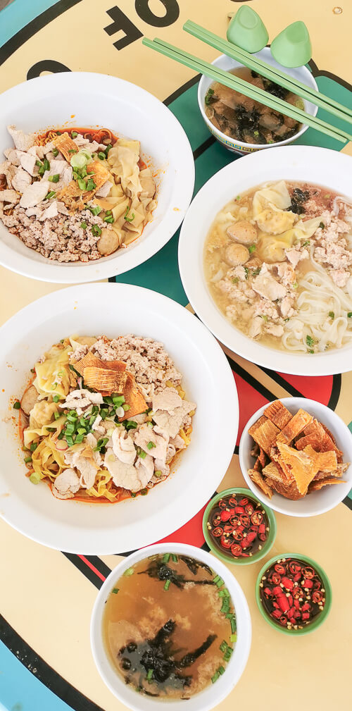 Hill Street Tai Hwa Pork Noodle - Dry Minced Meat Bak Chor Mee, Kway Teow Soup